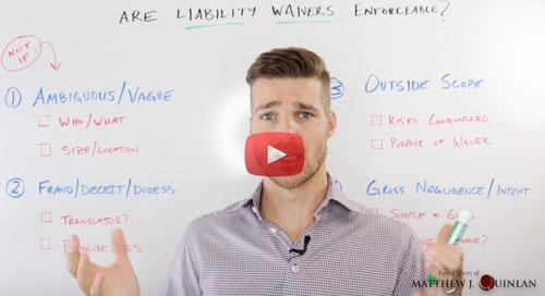 liability waiver enforceable